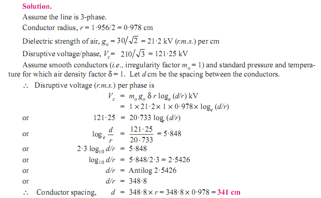 Some Examples of Corona calculation.