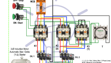 Photo of Star Delta Starter – (Y-Δ) Starter Power, Control and Wiring Diagram