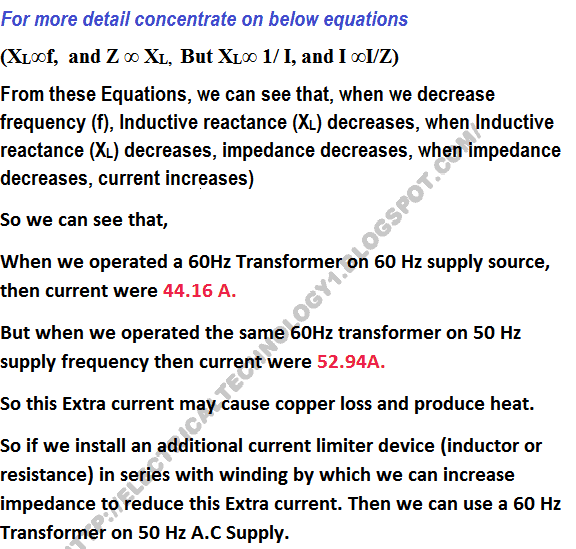 Can we operate a 60HZ Transformer on 50Hz Supply Source and Vice Versa?