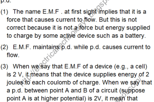 What is the differences between E.M.F and Voltage (P.d)