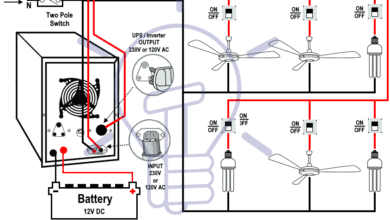 How to Connect Automatic UPS / Inverter to the Home Supply ... House Wiring Diagram With Inverter on