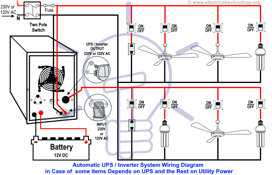Automatic Ups Wiring For Partial Load