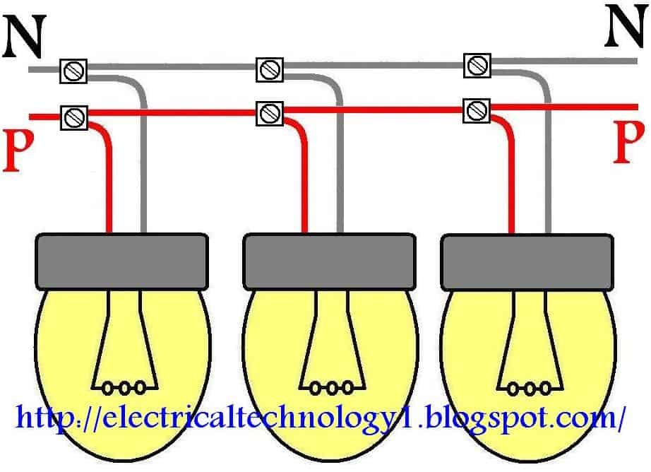 how to wire lights in parallel electrical technology rh electricaltechnology org wiring lighting in parallel wiring light bulbs in parallel