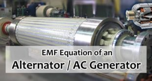 EMF Equation of an Alternator and AC Generator