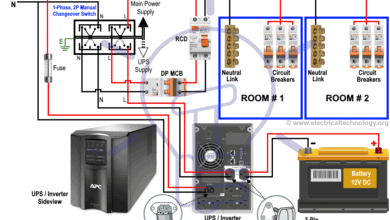 Photo of Manual & Auto UPS / Inverter Wiring Diagram with Changeover Switch
