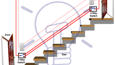 Photo of Staircase Wiring Circuit Diagram – How to Control a Lamp from 2 Places by 2-Way Switches?