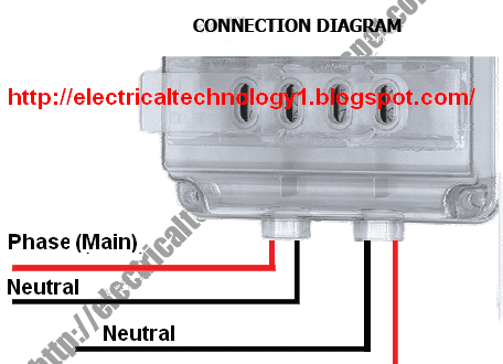 electricaltechnology1.blogspot.com_ 456x330 how to wire single phase kwh meter? electrical technology single phase kwh meter wiring diagram at highcare.asia