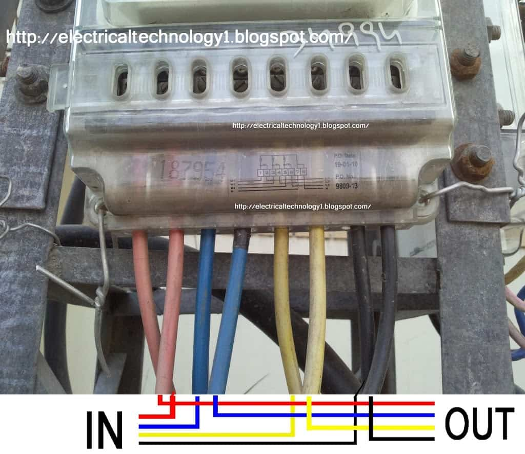 how to wire 3phase energy meter