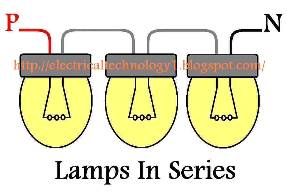 httpelectricaltechnology1.blogspot.com how to wire lamps in series how to wire lights in series? electrical technology wiring lights in parallel with one switch diagram at webbmarketing.co