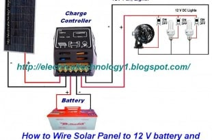 How to Wire Solar Panel to 12V battery