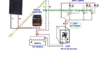 Photo of How to Wire Solar Panel to 220V inverter, 12V battery ,12V,DC Load?