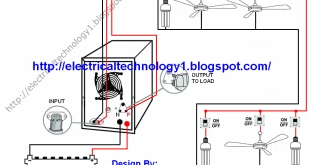 automatic ups inverter wiring connection diagram to the home rh electricaltechnology org Basic Electrical Wiring Diagrams microtek 1kva ups circuit diagram