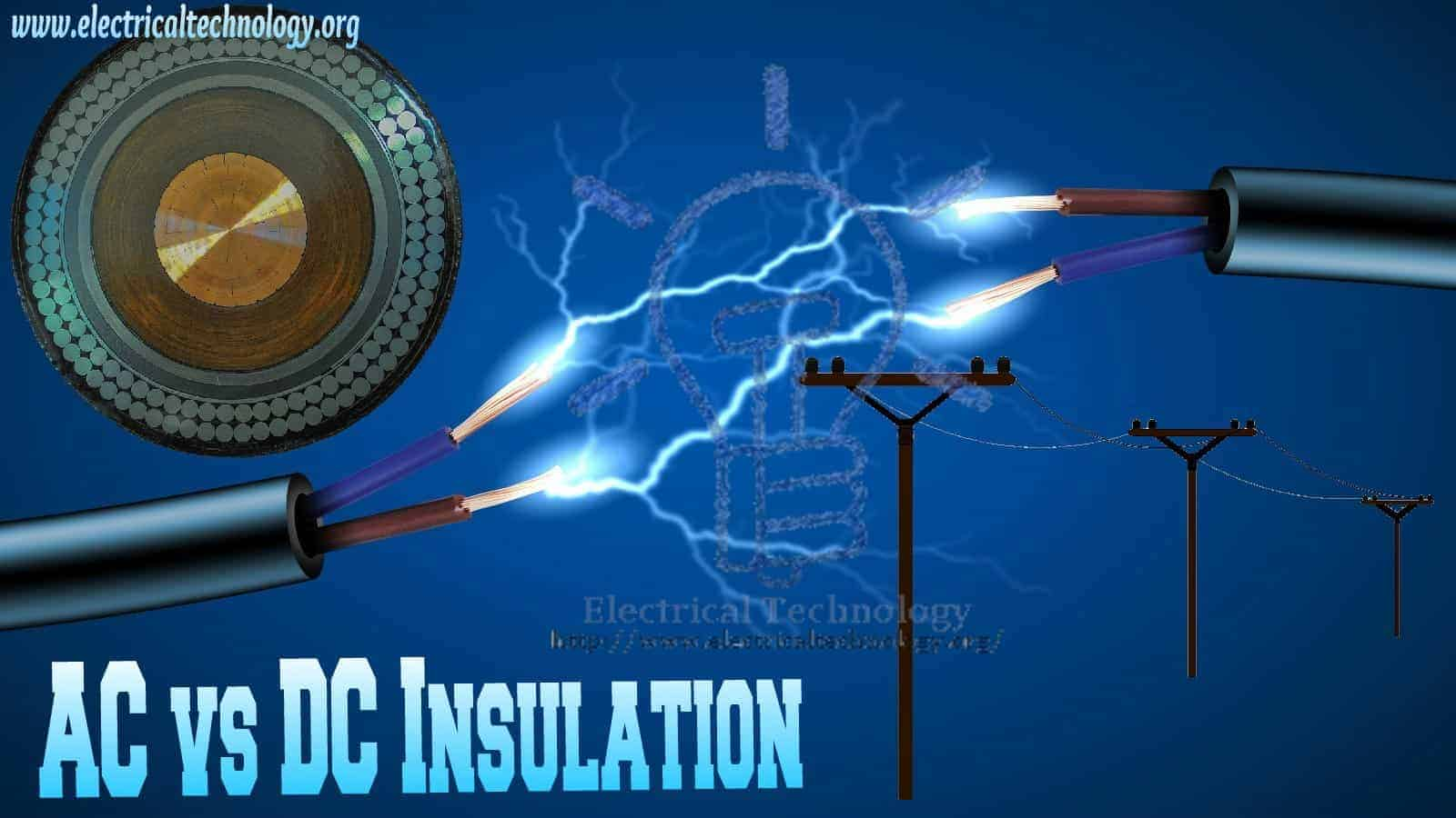 Why AC needs more insulation than DC for the Same Working Voltage Level?