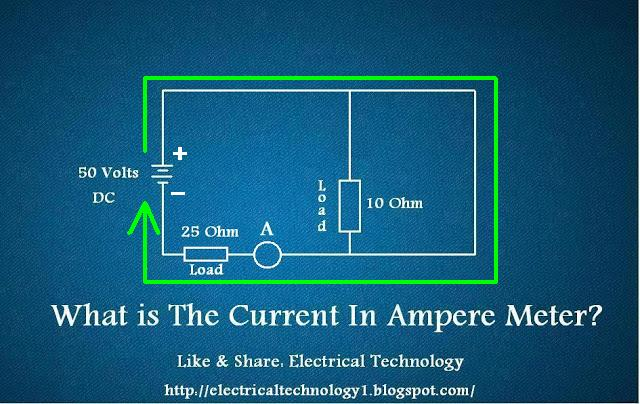 current in ammeter electri circuit diagram
