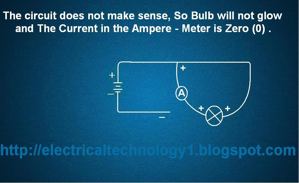 A Bulb is Connected in this strange way with Ammeter as shown in fig. then what will be the current in Amp-Meter