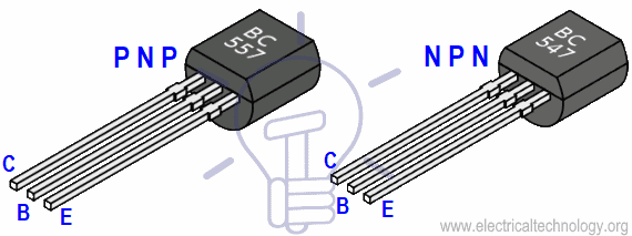BC 547 NPN and BC557 PNP Transistor Checking