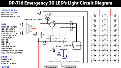 Emergency LED Light. Powerful & Cheep Circuit LED-716 Emergency Light Schematic diagram
