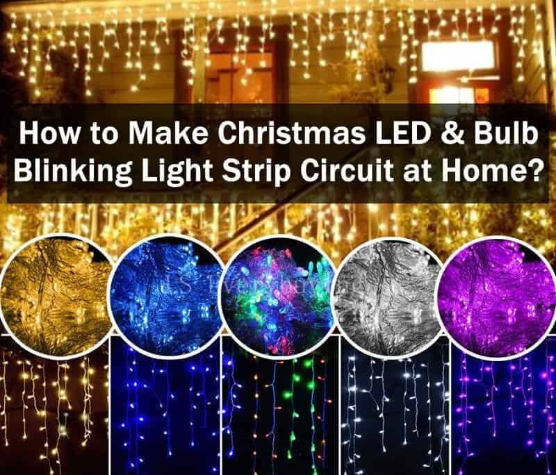 How to Make Christmas LED & Bulb Blinking Light String Circuit at Home