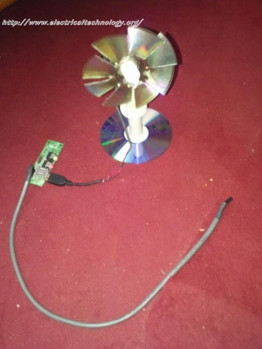 USB Mini Fan (Homemade, very simple Using PC 12V Fan Motor)