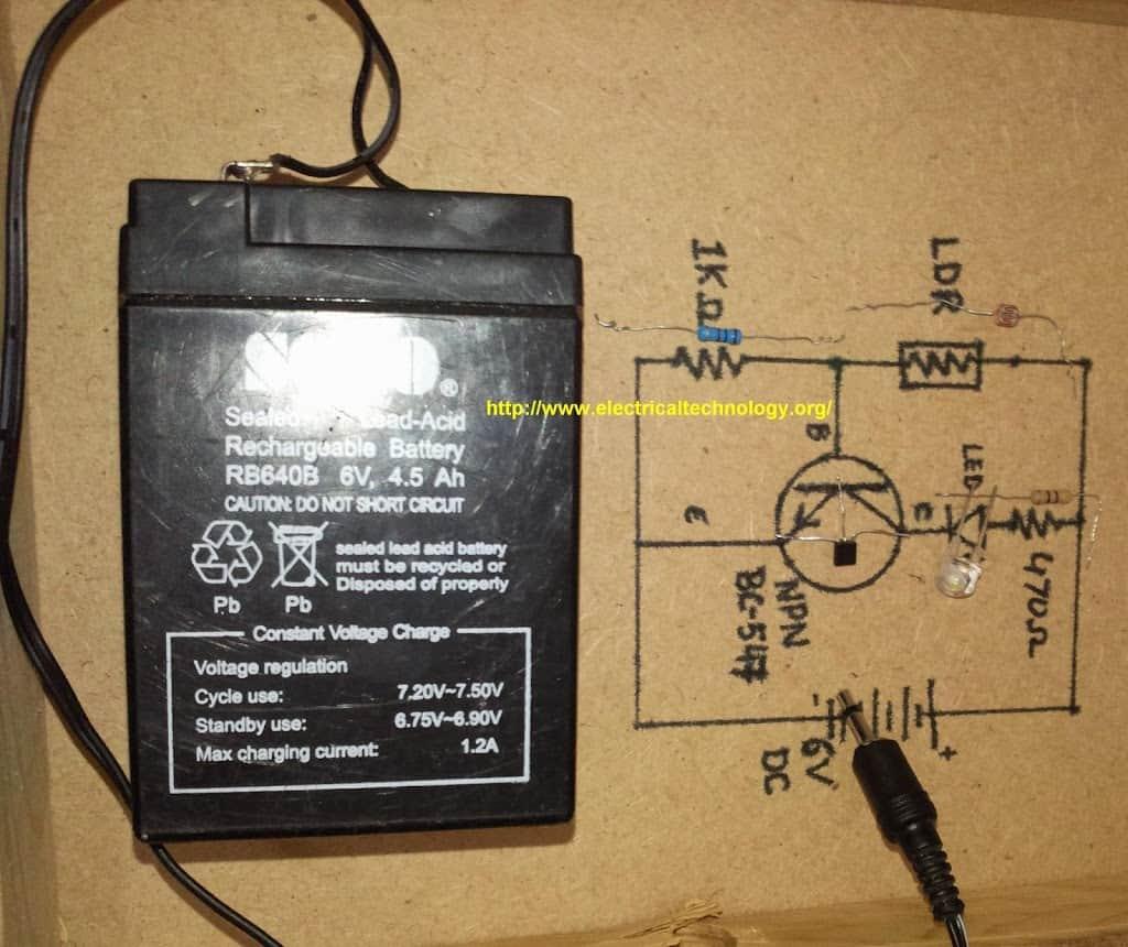 Automatic Street Light Control System.(Sensor using LDR & Transistor ...