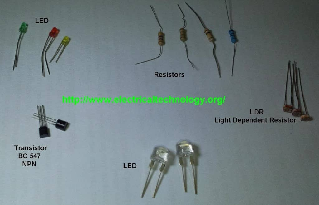 Automatic Street Light Control System.(Sensor using LDR & Transistor ...