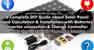 Solar Panel Installation: Step by Step Procedure with calculation and examples