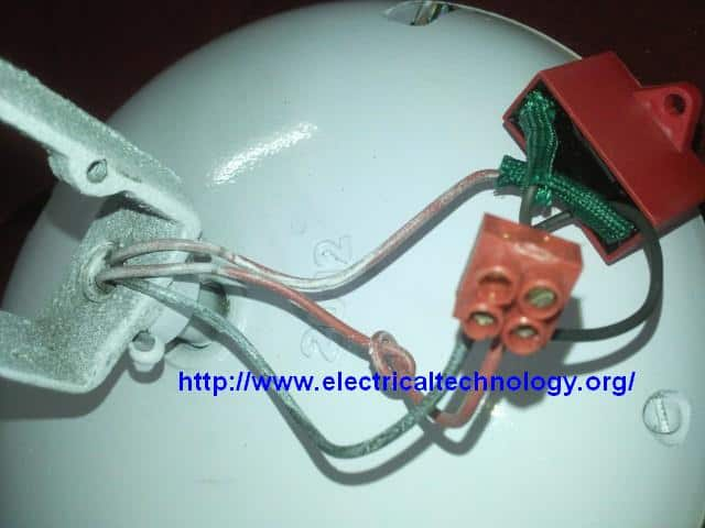 How to connect install a capacitor with a ceiling fan electrical how to connect install a capacitor with a ceiling fan greentooth Images