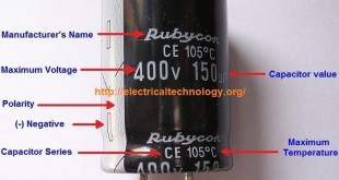 General-Capacitor-Nameplate-Rating-Electrolytic-Capacitor-
