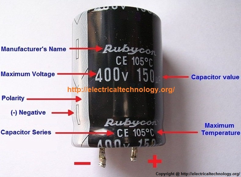 General Capacitor Nameplate Rating (Electrolytic Capacitor)