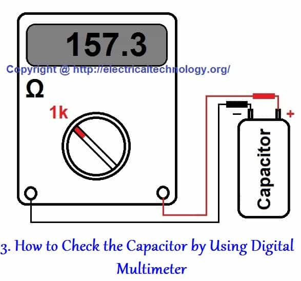 How to Test a Capacitor by Digital & Analog Multimeter - 6