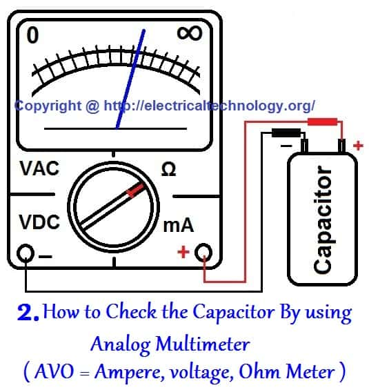 How to test a capacitor 6 ways to check a capacitor electrical eng how to check that is a capacitor is good open dead or short greentooth Images