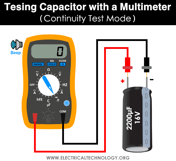 Testing Capacitor using Multimeter - By Continuity Test
