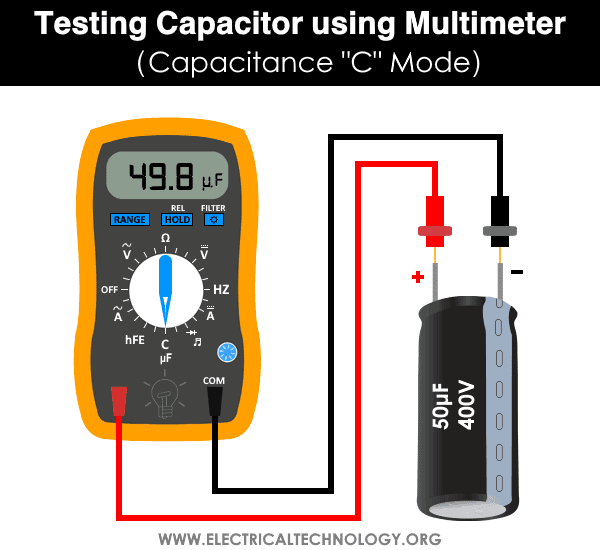 Testing Capacitor using Multimeter - Capacitance C Mode