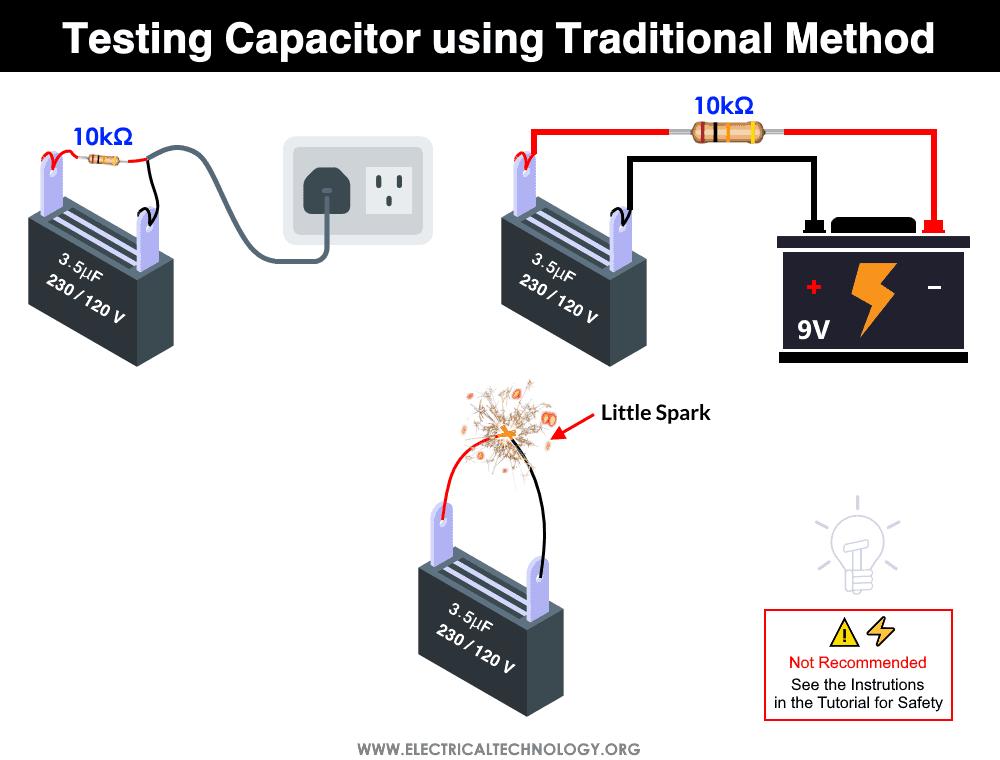 Testing Capacitor using Traditional Method