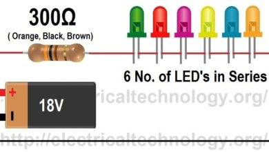 Formula to find the value of resistor for series led circuit