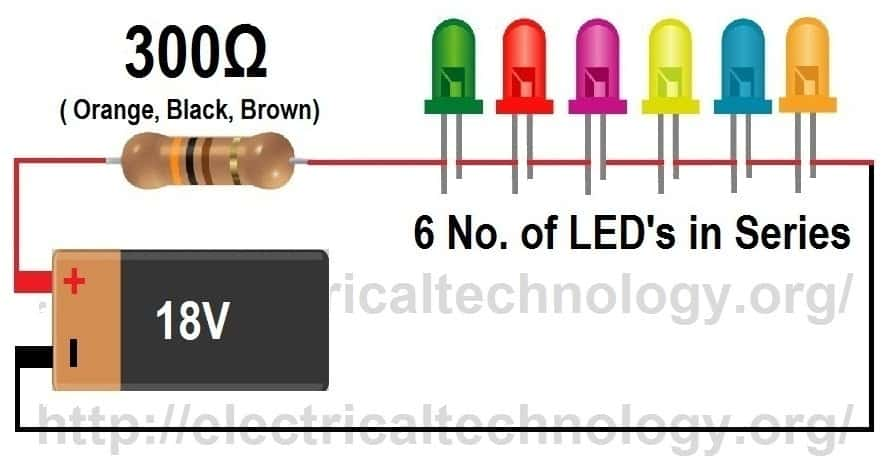 how to calculate the value of resistor for led led u2019s led series wiring calculator led lights series wiring
