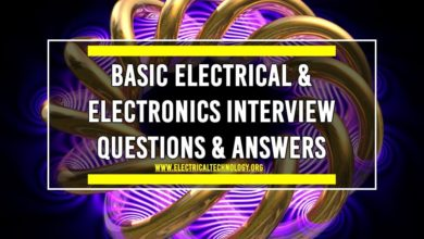 Photo of Basic Electrical & Electronics Interview Questions & Answers