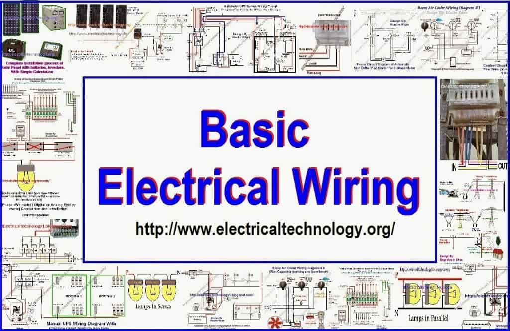 Basic Electrical Wiring Solar panel wiring Batteries wiring UPS wiring Single phase and three pahse wiring Copy electrical wiring electrical technology simple electrical wiring diagrams at aneh.co