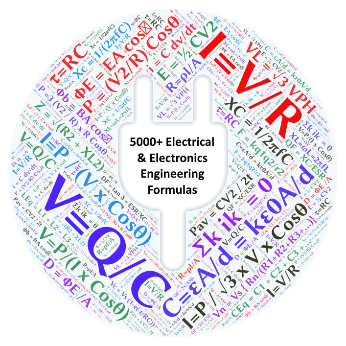5000+ Electrical and Electronics Engineering Formulas