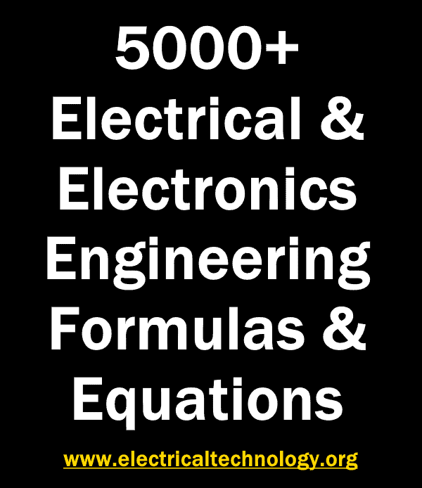 Electrical and Electronics Engineering Formulas & Equations