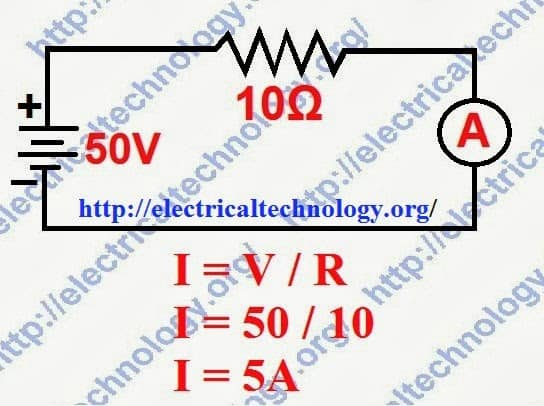 Ohm's Law simple Example