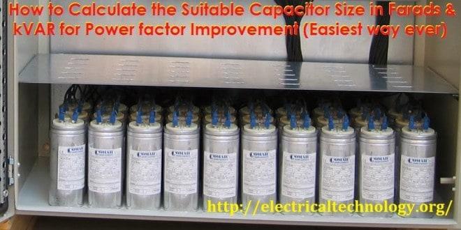 How To Convert Capacitor Farads Into Kvar  U0026 Vice Versa