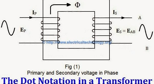 transformer phasing the dot notation and dot convention rh electricaltechnology org Single Phase Transformer Wiring Connections Single Phase Transformer Wiring Connections