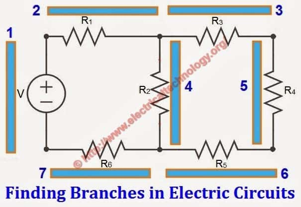 How to Find the Number of Nodes, Branches, Loops & Meshes in a Circuit?