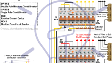 Three Phase Electrical Wiring Installation Diagram