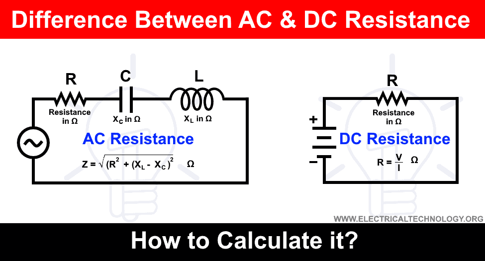Difference between AC and DC Resistance and How to calculate it