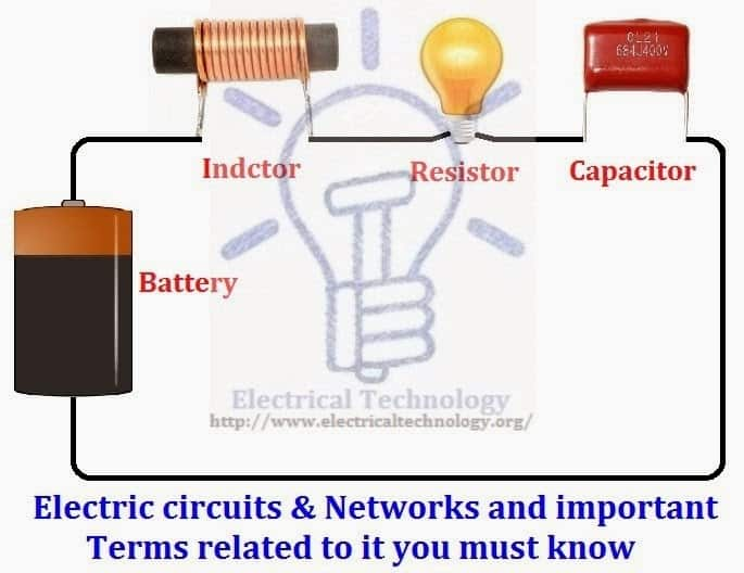 important terms related to electric circuits and networks