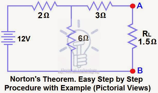 Norton's Theorem  Step by Step Procedure with Example