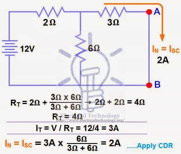 norton equivalent circuit examples