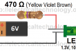 LED-simple-circuit-ever.-how-to-calculate-the-value-of-resistor-for-LED